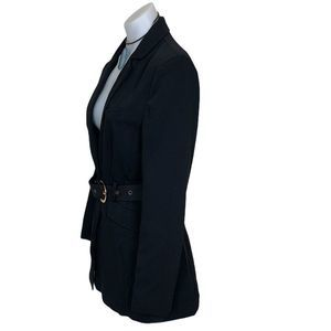 NBD Jackets & Coats - NBD Niko Classic Fitted Belted Blazer in Black